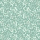 Blue baroque floral pattern Royalty Free Stock Photos