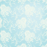 Blue baroque seamless pattern. Royalty Free Stock Photography