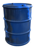 Blue Barrel Royalty Free Stock Photography