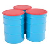 Blue barrel Royalty Free Stock Image