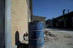 Blue barrel  Stock Images
