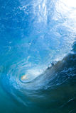 Blue barreling wave Royalty Free Stock Photos