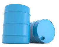 Blue barrels Royalty Free Stock Photos