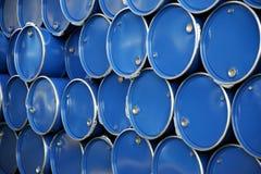 Blue barrels Stock Photography