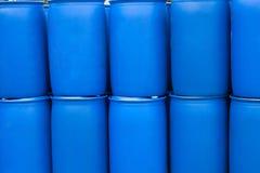 Blue Barrels Stock Images