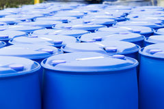 Blue Barrels Royalty Free Stock Image