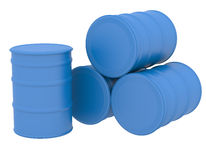 Blue barrels Stock Photos