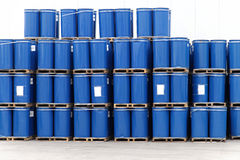Blue barrels Royalty Free Stock Photo