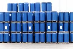 Blue barrels royalty free stock photo