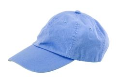Blue baseball cap Stock Photo