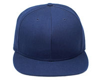Blue Baseball Cap. Shot of a isolated baseball hat on a white background Stock Image