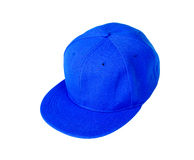 Blue baseball cap with blank space for insert text Royalty Free Stock Photo