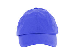 Blue Baseball Cap isolated on white Stock Photography