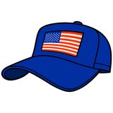 Blue Baseball Cap with US Flag Royalty Free Stock Photography