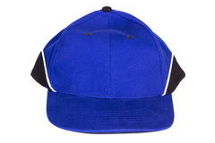 Blue baseball cap on white background, protection from sun Stock Photos
