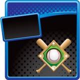 Blue Baseball diamond advertisement Stock Images