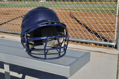 Blue Baseball Helmet Stock Photo