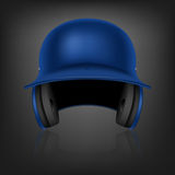 Blue baseball helmet. Vector background. Royalty Free Stock Photo