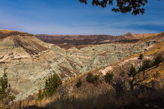 Blue Basin Geological Feature. Blue Basin overlook, John Day National Monument, Central Oregon Royalty Free Stock Image