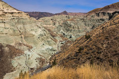 Blue Basin Geological Feature. Blue Basin overlook, John Day National Monument, Central Oregon Royalty Free Stock Images