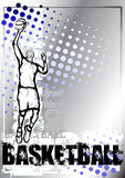 Blue Basketball background Stock Images