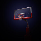 Blue basketball houp in light shine. Stock Photography