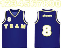 Blue basketball jersey royalty free stock image