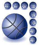 Blue Basketballs Royalty Free Stock Photos