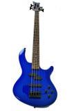 Blue bass guitar Stock Image