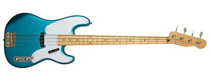 Blue bass guitar Royalty Free Stock Photo