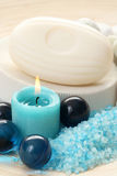 Blue bath Stock Photos