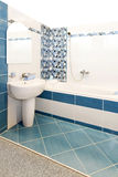 Blue bath Royalty Free Stock Photography