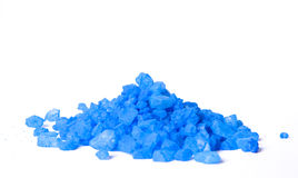 Blue bath salt Royalty Free Stock Image