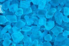 Blue bath salt Royalty Free Stock Photography