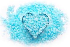 Blue bath salt. Stock Image