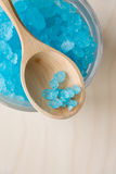 Blue Bath Salt in Glass Royalty Free Stock Photo