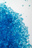 Blue bath salt on light table Royalty Free Stock Image
