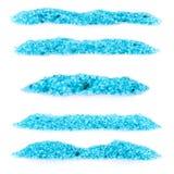 Blue bath salt Stock Image