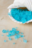 Blue Bath Salt in Shell Royalty Free Stock Photo