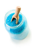 Blue bath sea salt Stock Photos