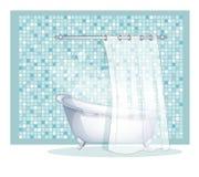 Blue bath Stock Photo