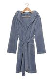 Blue bathrobe Royalty Free Stock Photos