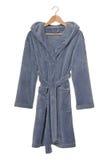 Blue bathrobe. It is a blue bathrobe with hood royalty free stock photos