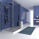 Blue bathroom Stock Images