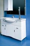 Blue bathroom Stock Photography