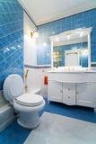Blue bathroom Stock Photo