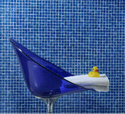 Blue bathroom closeup Stock Photography