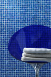 Blue bathroom closeup Stock Images