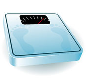 Blue bathroom scale Royalty Free Stock Images