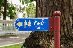 Blue Bathroom Signs Royalty Free Stock Photos